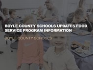 Food Service Program Update