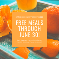 Free Meals Through June 30