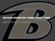 Second Semester Commitment Form