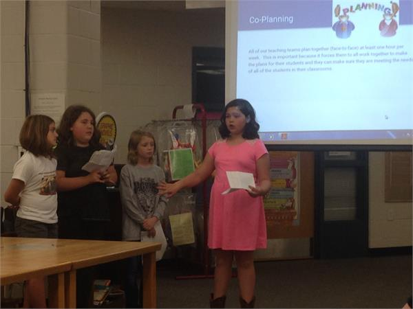 Speaker Leaders presenting our Big 5 to the Boyle County School Board.